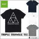 【ゆうパケット対応】 HUF ハフ Tシャツ TRIPLE TRIANGLE TEE ブラック ネイビー ホワイト グレー トップス スケート キース ハフナゲル