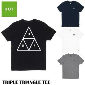 【ゆうパケット送料無料】 HUF ハフ Tシャツ TRIPLE TRIANGLE TEE ブラック ネイビー ホワイト グレー トップス スケート キース ハフナゲル