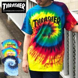 【ゆうパケット送料無料】 THRASHER スラッシャー Tシャツ ブランド メンズ レディース ブラック ホワイト マグ タイダイ MAG LOGO TIE DYE TEE トップス スケート ストリート