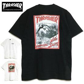 【ゆうパケット送料無料】 スラッシャー Tシャツ THRASHER 2020年新作 JAN 82 S/S TEE 半袖 バックプリント メンズ レディース ブラック ホワイト トップス T-SHIRTS スケート ストリート マガジン