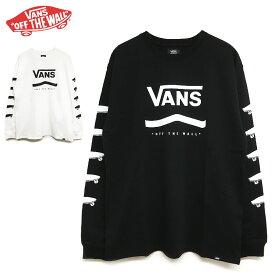 VANS ロンT メンズ レディース OFF THE WALL ロングスリーブ Tシャツ バンズ ブランド 長袖 ゆうパケット送料無料 ブラック ホワイト 白 黒 ロゴ Primary Color L/S T-Shirt トップス スケート ストリート ビッグ 大きめ