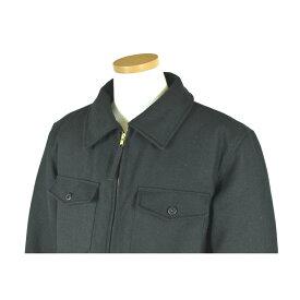 Melton Wool シャツジャケットメンズ・ブラック