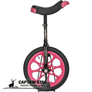 キャプテンスタッグ(CAPTAIN STAG) アステリア 一輪車 16インチ 子供用 スタンド付き ブラック/ピンク YG-1342