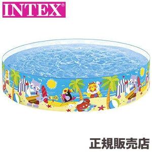 プール 水を入れるだけ簡単設営 シーホースバディスナッププール 244×46cm 58457 INTEX(インテックス)
