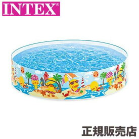 プール 水を入れるだけ簡単設営 ダッキングスナップセットプール 122×25cm 58477 INTEX(インテックス)