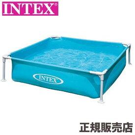 INTEX(インテックス)ミニフレームプール ブルー 122×122×30cm 57173[日本正規品] INTEX(インテックス)