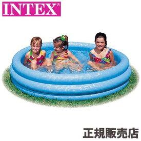 クリスタルブループール 147×33cm 58426 INTEX(インテックス)