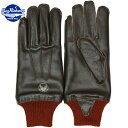 BUZZ RICKSON'S(バズリクソン)TYPE A-10 Winter Flying Glove S/Brown Red Rib ウインター フライング グローブ レ…