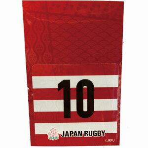 【JAPAN】貼ってはがせるスマホステッカー 四角 10番 ラグビー 日本代表 背番号 10番 スマホステッカー R015
