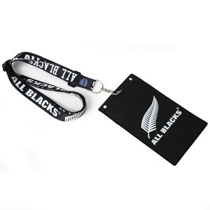 【ALL BLACKS】 オールブラックス チケットホルダー ショルダー ストラップ ネックストラップ ラグビー ニュージーランド代表 オフィシャルグッズ