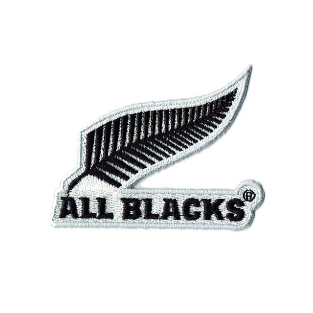 【ALL BLACKS】 オールブラックス 刺繍 ステッカー シルバーファーン ラグビー 【ネコポスは送料無料】