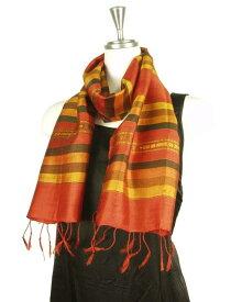 【訳あり】ベトナム 少数民族 ターイ族 手織り 民族布 シルク メンズストール ショール