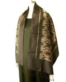 マッドミーと呼ばれるタイの絣織りストール。手織りです。母の日ギフト、父の日ギフト、誕生日プレゼントに。