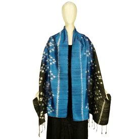 タイシルク 絣織りショール 手織り ストール 絹100% 母の日ギフト 誕生日プレゼント 送料無料