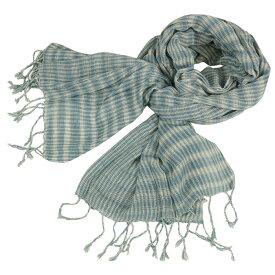 草木染め 手織り コットン ストール メンズストール 母の日ギフト 敬老の日ギフト 誕生日プレゼント