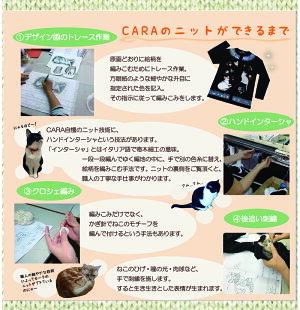HIKOSENCARAハチワレねこと魚のプルオーバーW21-060(AUT1)アクリルウールニットセータープルオーバー猫猫柄かわいいおしゃれ猫グッズオリジナルヒコウセンカーラかーらひこうせん飛行船ギフト包装無料送料無料