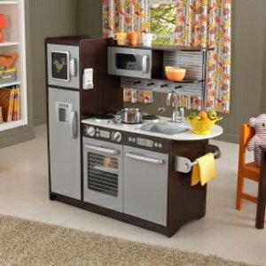 【送料無料】【KidKraft キッドクラフト】アップタウン エスプレッソキッチン 木製 おままごとキッチン