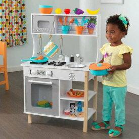 あす楽【送料無料】【KidKraft キッドクラフト】 初めてのキッチン おもちゃ39点付き 木製 おままごとキッチン