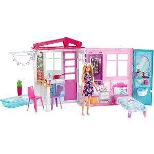 送料無料【costco コストコ】【Barbie バービー】かわいいピンクのプールハウス ドール アクセサリー付き FXG55ドールハウス ごっこ