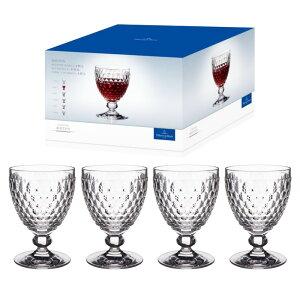 送料無料【costco コストコ】【Villeroy & Boch ヴィレロイ&ボッホ】ボストン レッド ワイン ゴブレット 4個セット グラス