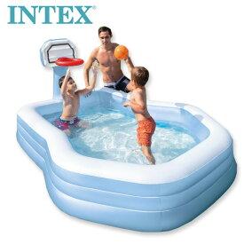 送料無料【INTEX インテックス】スイムセンター シューティンフープ ファミリー プール【costco コストコ】水遊び Swim Center Shootin' Hoops Family Pool