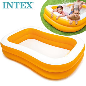 送料無料【INTEX インテックス】マンダリンスイムセンターファミリープール229cm【costco コストコ】水遊び Mandarin Swim Center Family Pool