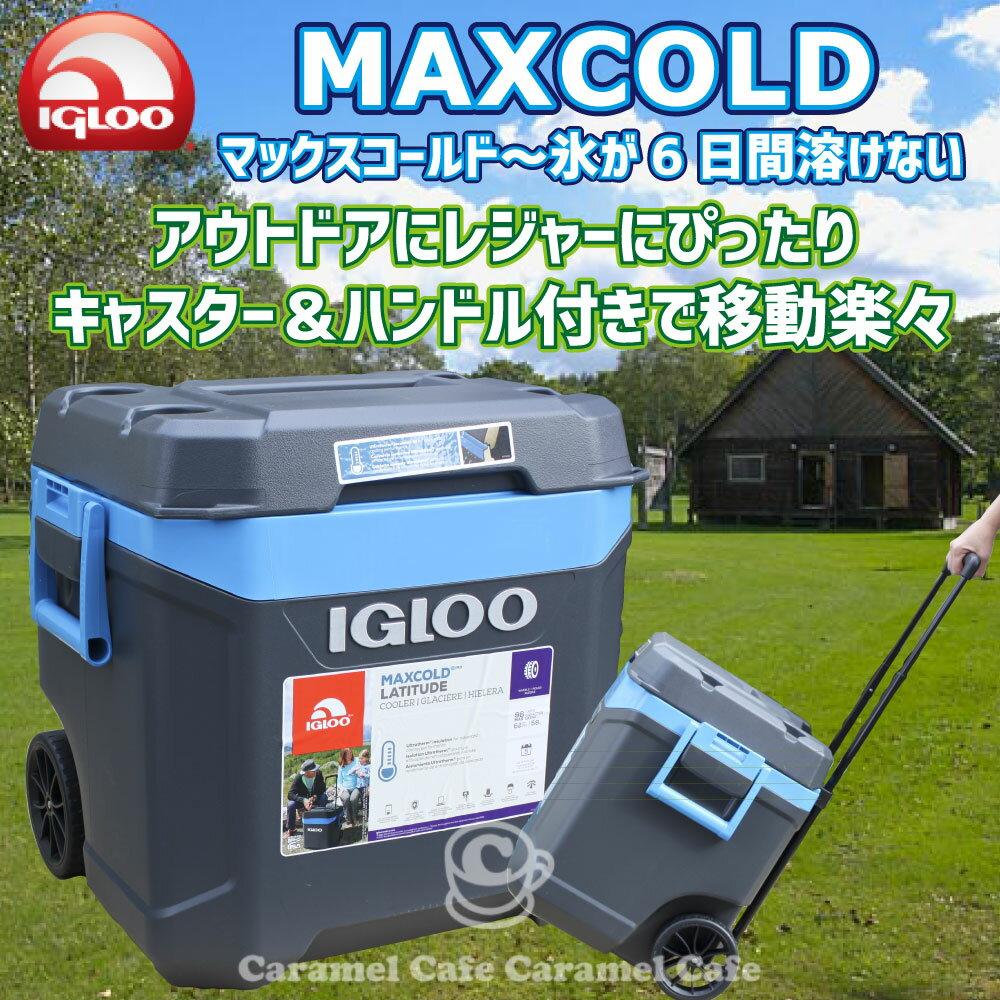 【あす楽】IGLOO MAXCOLD イグルー/イグロー】2018マックスコールド クーラーボックス 62QT(58L)ブルー&グレー05P04Jul15