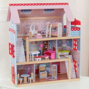 送料無料 KidKraft Chelsea Doll Cottage キッドクラフト チェルシー ドール コテージ 正規品 おままごと 木製 おもちゃ ドールハウス