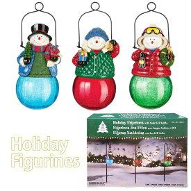 【送料無料】クリスマス ソーラーライト スティック型 3個セットHoliday Figurines With Solar LED Lights【コストコ costco】