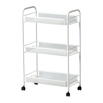 Three steps of IKEA IKEA HORNAVAN racks assembling-type caster wagon kitchen kitchen wagon caster washroom assistance wagon storing wagon