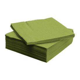 【当店ポイント5倍】【IKEAイケア】 FANTASTISK紙ナプキン(40×40cm) ミディアムグリーン 50ピースお誕生会ディナーパーティー