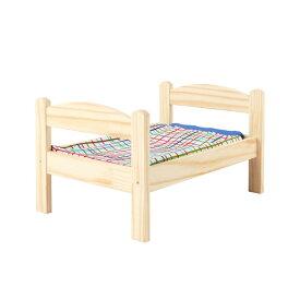 送料無料【IKEAイケア】DUKTIG人形用 ベッド リネン付き 犬用猫用 ペット用ベッド