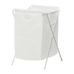 【IKEAイケア】JALLランドリーバッグ スタンド付き【ホワイト】