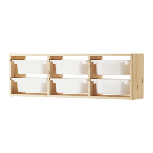 【送料無料】【IKEAイケア】トロファスト 子供用家具TROFASTウォール収納,パイン材,ホワイト(09102315)W-WSS6 【ラッキーシール対応】