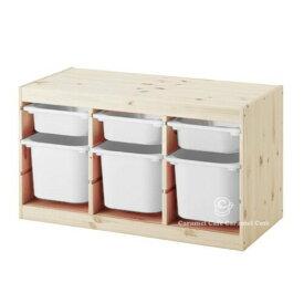 【送料無料】あす楽今だけIKEAのエコバッグプレゼント【IKEAイケア】トロファスト 子供用家具TROFAST収納コンビネーションパイン材/ホワイト PY-WS3WM3