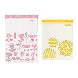 【当店ポイント5倍】【IKEAイケア】【ISTAD】プラスチック袋 (ピンク&イエロー) 30ピース