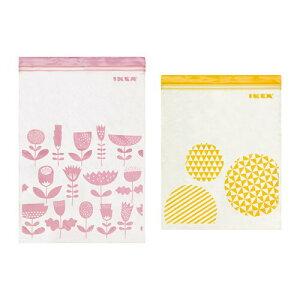 【IKEAイケア】【ISTAD】プラスチック袋 (ピンク&イエロー) 30ピース