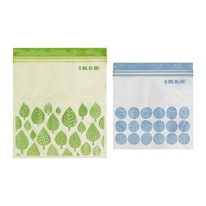 【IKEAイケア】【ISTAD】プラスチック袋 (グリーン&ブルー) 50ピース