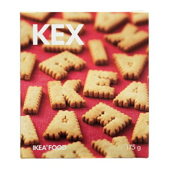 175 g of KEX alphabet cookie cookies