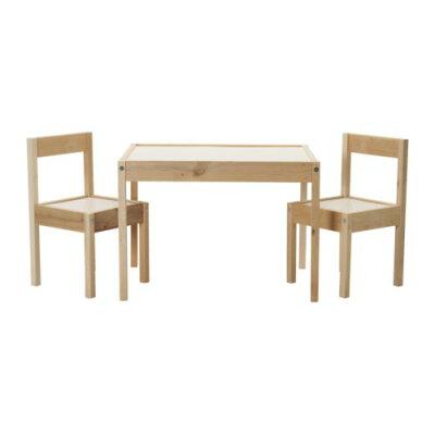 【IKEAイケア】LATT子供用テーブル&チェア2脚セット