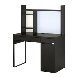 【キャッシュレス還元P9】【IKEAイケア】MICKEミッケ ワークステーション ブラックブラウン105×50×140cm 【ラッキーシール対応】