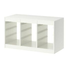 【送料無料】予約商品【IKEAイケア】トロファスト 子供用家具TROFASTフレーム, ホワイト(00169918)WY