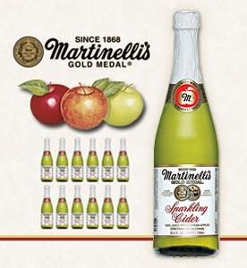 【Martinelli's】マルティネリ アップルサイダー★250ml×12本 炭酸リンゴジュース【輸入食材 輸入食品】05P30May15