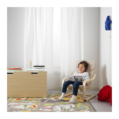 IKEAイケアPOANGポエング子供用アームチェアバーチ材突き板アルモースナチュラル