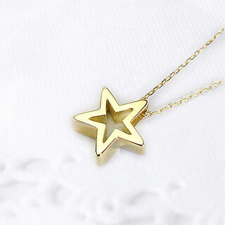 K18スター 星 ペンダント Shining star(18k、18金 ゴールド製)(pzs12k)