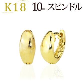K18 預彎箍 (10 毫米主軸) (18 k 金 18k 黃金) (sad10k)