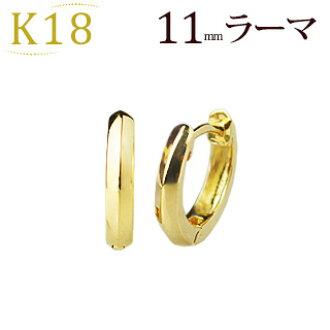 c147f21f928f9 K18 pre-bent hoop earrings (steel 11 mm Rama, Japan) (sam11k)