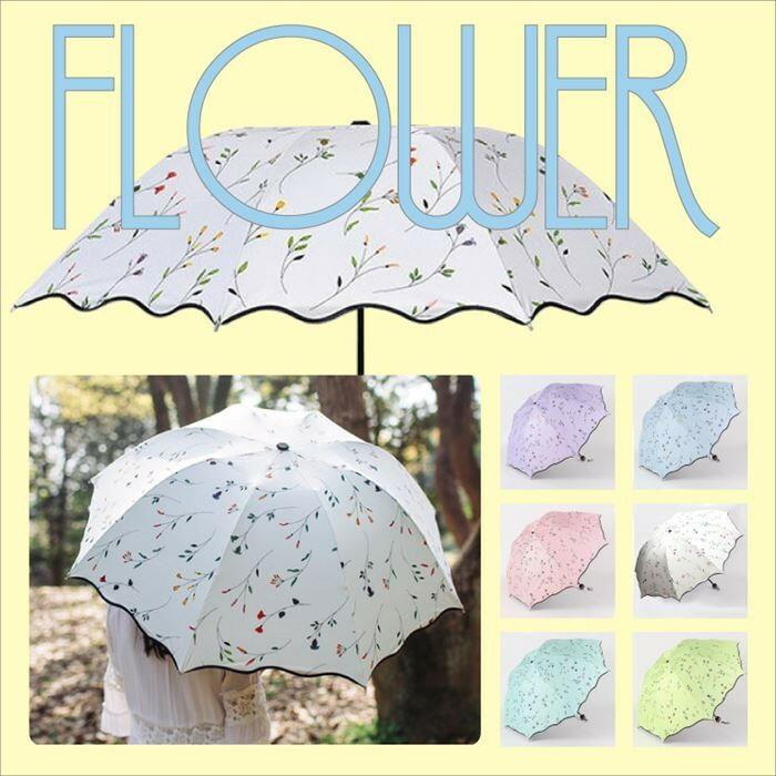 折り畳み傘 花柄 レディース 傘 折りたたみ おしゃれ 晴雨兼用 かわいい UVカット 日傘 雨傘 超撥水 断熱 紫外線 軽量 折り畳み 折畳み 梅雨 CZ-UBF CARAZ JPN
