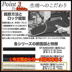 抗菌無地フロアマット【スーパー】トヨタ・ウィッシュ20系用DZS-T038
