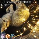 ジュエリーライト 3m 30灯 電池式 全3色 FW-LED3M led クリスマスツリー 飾り付け メール便(定形外郵便)送料無料